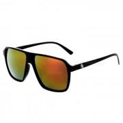 Unisex Retro UV400 Proteccion PC Rojo REVO lente gafas de sol - Negro