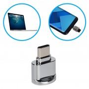 Leitor de Cartão de Memória OTG USB 3.1 Type-C / MicroSD Portátil - Cinzento
