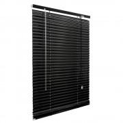 Victoria-M Veneciana de Aluminio 25mm, Producto Terminado, Negro, 45x130 cm