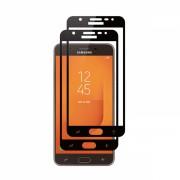 Set 2 folii protectie sticla securizata fullsize pentru Samsung Galaxy J7 Max G615FD, negru
