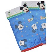 2Pack Disney Baby Mickey Mouse Hooded Bath Towels, Astro Blue