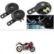 KunjZone Horn 12V 105db Scooter Moped Dirt ATV Motorbike Moto Bikes Horn Loud Air Horns Motorbike Classic Horns (Set of 2) For Honda CBR 1000RR