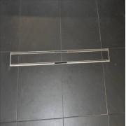 Wiesbaden Tegelrooster RVS Voor Douchegoot 100x7 cm
