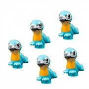 LEGO 5 pcs NEW FRIENDS TROPICAL EXOTIC BLUE BIRD Macaw Toucan Medium Azure Animal Minifigure Figure Minifig Part Piece Cute boy girl Pet shop parrot