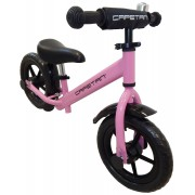 """Capetan® Energy Plus Pink színű 12"""" kerekű futóbicikli sárhányóval és csengővel - pedál nélküli gyer"""