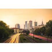Warszawa Centrum w Słońcu - plakat premium