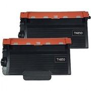 2 PK Compatible TN850 TN-850 HY Black Toner Cartridge for Brother DCP-L5500DN L5600DN L5650DN HL-L5000D L5100DN L5200DW L6200DW L6300DW MFC-L5700DW L5800DW L5850DW L5900DW L6700DW L6800DW