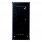 Samsung G973 Galaxy S10 LED Cover, gyári tok, fekete, EF-KG973CB