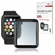 4smarts Second Glass Apple Watch Series 1/2/3 Screen Protector - 38mm - Black