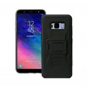 Funda Samsung A605 Galaxy A6 Plus 2018 Robot Uso Rudo Con Clip - Negro