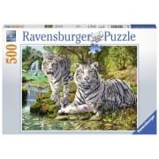 Puzzle Fun 10Ani+ Tigri Albi, 500 piese