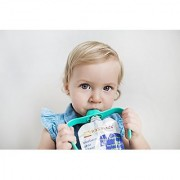 Pouchbuddy (Turquoise) - Baby Self Feeding Pouchbuddy. Works With Most Baby Food Pouches Including But Not Limited To Plum Happy Tot Happy Baby Happy Family Earth'S Best Gerber Other National Brands As Well As Reusable/Refillable