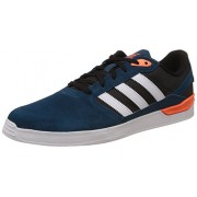 adidas Originals Men's Zx Vulc Blue, Black and Orange Leather Sneakers - 7 UK