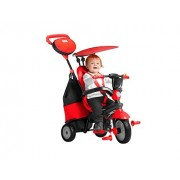 Smart Trike - 4 in 1 Cruise Baby Boy Tricycle, Black/Red