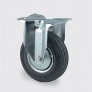 TENTE Transportrolle mit bedeckung, 200 mm, schwarzer gummi