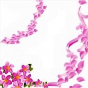 Servetele de masa cu flori roz pentru petrecere 33 cm, set 20 buc