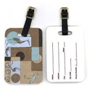 Caroline's Treasures 8103BT 4 x 2.75 in. Pair of Blue Heron Luggage Tag(Multicolor)