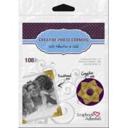 SCRAPBOOK ADHESIVES BY 3L? 3L Scrapbook Adhesives Esquinas para Fotos de Papel Autoadhesivas, Dorado, 120', 1