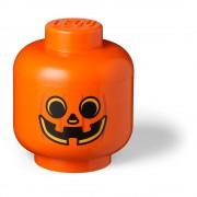 LEGO® Oranžový úložný box LEGO® Pumpkin Head L