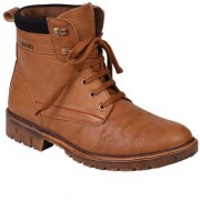 Knoos Men's Tan Synthetic Leather Casual Boot