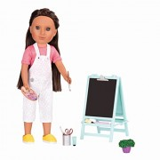 Glitter Girls by Battat Creative Art Kit Chalkboard Easel Accessory Set - 14- Doll Clothes and Accessories for Age 3 up Children's Toys
