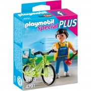Joc PLAYMOBIL Handyman with Bike