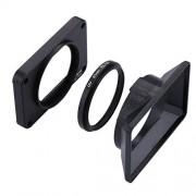 Anstorematealliance Fealliancement Accesorio de cámara de acción Accesorio de cámara de acción Panel frontal de aleación de aluminio + lente de filtro UV de 37 mm + sombrilla de lente for Sony RX0 / RX0 II, con tornillos