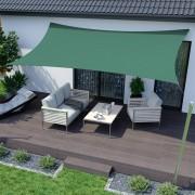 Jarolift Voile d'ombrage rectangulaire, imperméable, vert, 400x300 cm