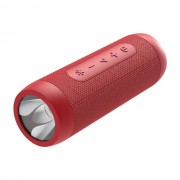 ZEALOT S22 Bluetooth Speaker FM Radio Portable Boombox Wireless Speaker with Flashlight and Power Bank - Red
