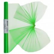 Geen Groene organza stof op rol 40 x 200 cm
