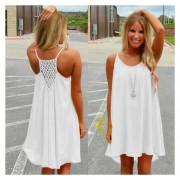 Vestido De La Playa para Mujer Gasa - Blanco