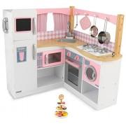 KidKraft Grand Gourmet Deluxe Corner Kitchen + Playfully Delicious Dessert Tower