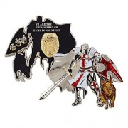 USN Challenge Coin, United States Navy Master-at-Arms K9 Unit Challenge Coin, Knight-in-Armor with K9 Dog