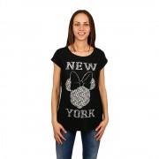 Minnie Mouse New York fekete női póló