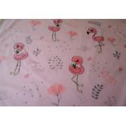 160 cm széles pamut textil - méteráru - rózsaszín csillagos