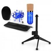Auna CM00BG Juego de micrófono V1 Micrófono de estudio negro/dorado Soporte de araña Soporte de trípode (60002002-V1)
