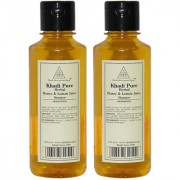 Khadi Pure Herbal Honey Lemon Juice Shampoo - 210ml (Set of 2)