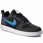 Nike Men's Court Borough Low / Blk-Blu-Gry-Wht Sneakers