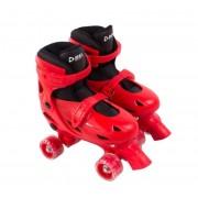 Patins Clássico Ajustável Vermelho - Tamanho M (33 ao 36) - Bel Sports