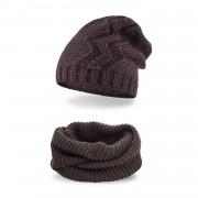 Komplet PaMaMi, czapka i komin - Czekolada