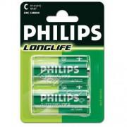 Philips 2 x bateria cynkowo-węglowa Philips LongLife R14 C (blister)