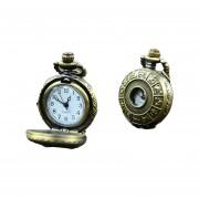 GE Collar Cuarzo Steampunk Retro Cadena Pendiente Del Reloj Del Reloj De Bolsillo Del Zodiaco Chino (Multicolor)