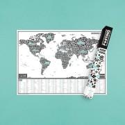 Harta razuibila Editia F ?ING WORLD - produs original Luckies London