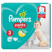 Scutece Active Baby Pants 3 Pampers, 6-11 kg, 26 buc