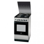 Готварска печка Indesit I5N65A(KX)/BG, клас А, 56л. обем фурната, 2 газови котлона, инокс