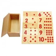 ELECTROPRIME® Wooden Montessori 1-10 Numbers Matching up Puzzles Kids Learning Xmas Toy