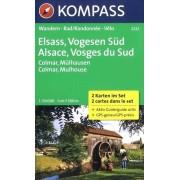 Wandelkaart - Fietskaart 2222 Elsass - Vogesen Süd, Elzas - Vogezen zuid | Kompass