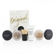 BareMinerals Get igång Mineral Foundation Kit - # 18 Medium Tan 4st