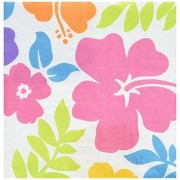 Amscan Hibiscus Lunch Napkins, (100 count)