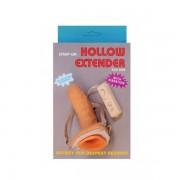 Strap-on cu vibratii Hollow Extender 15cm